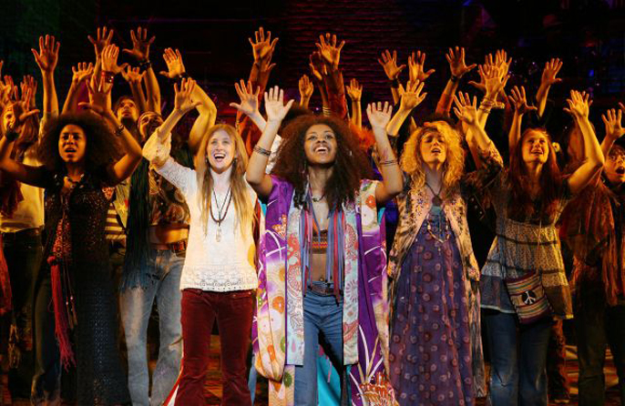 The cast of the Broadway revival of HAIR Photo credit Joan Marcus