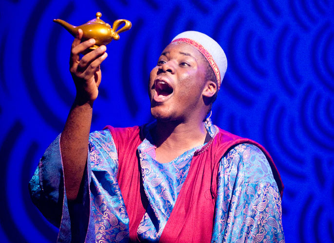 Aladdin - Hammed Animashaun as Aladdin, Lyric Theatre - Photo by Tristram Kenton