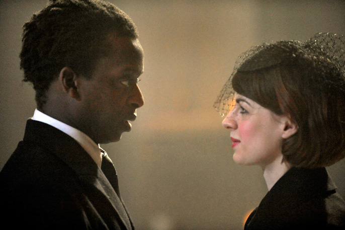 The Changeling - Kobna Holdbrook-Smith (Alsemero) and Jessica Raine (Beatrice-Joanna) [image Keith Pattison]