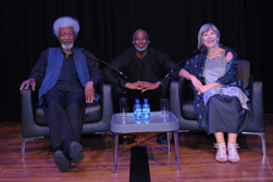 Wole Soyinka, Chuck Mike and Jude Kelly OBE at the Collective Artistes gala evening - © Anthony Ofoegbu